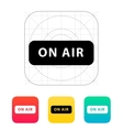 On air broadcasting icon vector image