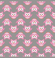 owl stylized art seamless pattern pink gray colors vector image vector image