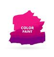 pink color paint design vector image
