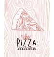 Poster slice pizza wood vector image vector image