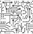 printed circuit seamless pattern vector image vector image