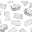 realistic detailed 3d white blank container vector image vector image