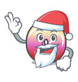 santa jelly ring candy mascot cartoon vector image vector image