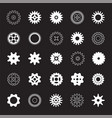 set white gears vector image