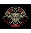 Sheriff skull vector image