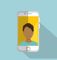 smartphone with man character vector image