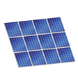 solar panel in blue color vector image vector image