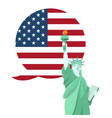statue liberty national monument in america vector image vector image
