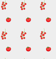 tomatoes and cherry pattern vector image vector image