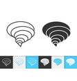 tornado simple black line icon vector image