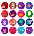 Travel business progress and other web icon in vector image
