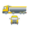 truck tractors for grit transportation vector image vector image