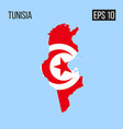 tunisia map border with flag eps10 vector image vector image
