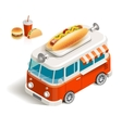 Van with fast food vector image vector image
