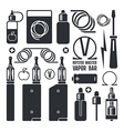 Vape shop and e cigarette icons