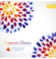 Watercolor template colorful rainbow brushstrokes vector image vector image