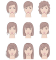 Women s faces vector image vector image