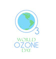 world ozone day vector image