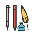 Writing Equipment vector image vector image