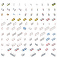 equipment for grocery supermarket isometric icon vector image