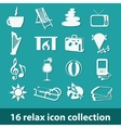 16 relax icon collection vector image vector image