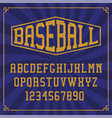 a sports alphabet with grunge effect vector image vector image
