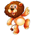 A young playful lion vector image vector image