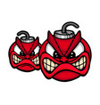 angry bombs vector image vector image