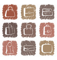 bags and suitcases doodles vector image vector image