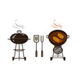 barbecue bbq logo or label brazier food vector image vector image