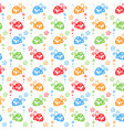beetle colorful pattern background vector image
