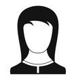 best female avatar icon simple vector image