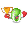 boxing winner chinese cabbage vegetable isolated vector image vector image