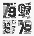 brooklyn new york vintage t shirt stamp set vector image vector image