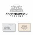 building logo construction house real estate vector image vector image