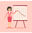 Businesswoman Presentation Falling Down Pink vector image