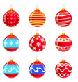 christmas balls set of isolated cartoon vector image