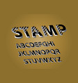 composite sign stamp chic composite vector image