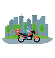 delivery transport cartoon vector image vector image