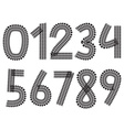 Digits made from tank and tractor tracks vector image vector image