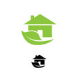 eco green house icons vector image