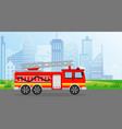 fire truck in flat style on vector image vector image
