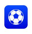 football soccer ball icon digital blue vector image vector image