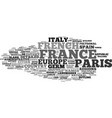 france map word cloud concept vector image
