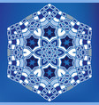 geometric arabic hexagonal mosaic tile ornament vector image vector image