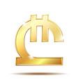 georgian lari currency symbol vector image vector image