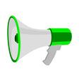 Green megaphone vector image vector image
