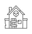 haunted house icon amusement park related line vector image vector image