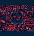 high tech circuit board background vector image vector image