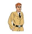 Inspector man cartoon design vector image vector image